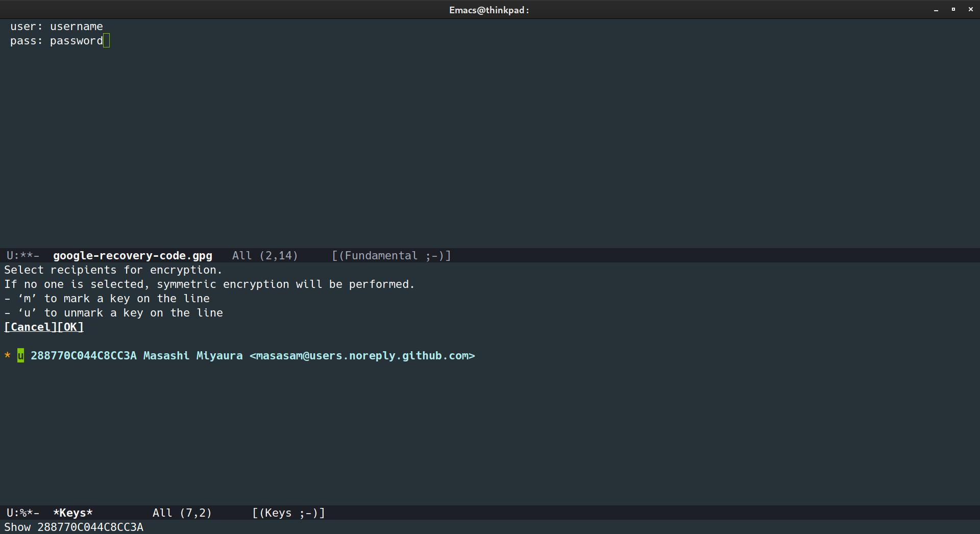 GnuPGで暗号化